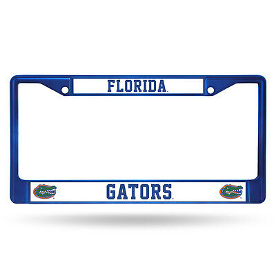 Florida Gators Blue Metal License Frame  New  Ncaa Auto Car Truck Plate