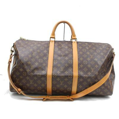 Authentic Louis Vuitton Boston Bag Keepall Bandoliere 55 M41414 113011