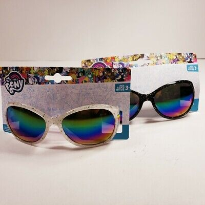 Lot of 2 prs- My Little Pony Kids Sunglasses Black & White w/Rainbow Lenses NEW!](My Little Pony Sunglasses)