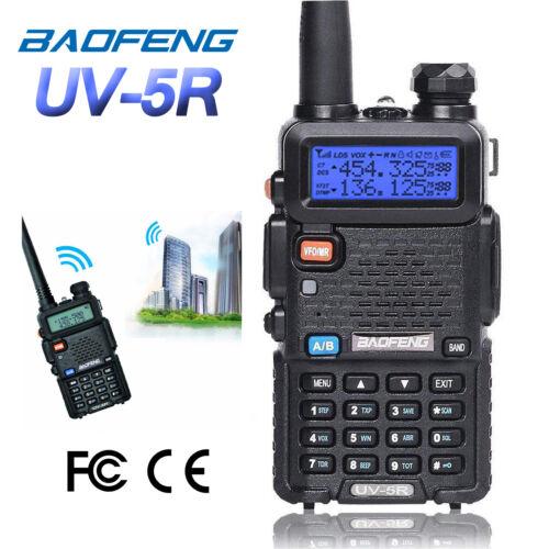 Baofeng UV-5R VHF UHF Dual-Band FM Ham 5W Portable Two-way Radio Walkie Talkie