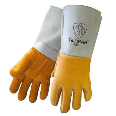 Tillman 850 Premium Top Grain Golden Elkskin Welding Gloves Medium