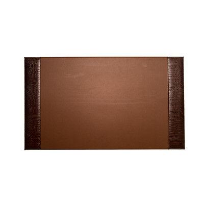 Bey-berk Desk Pad Brown Croco Leather 20x34