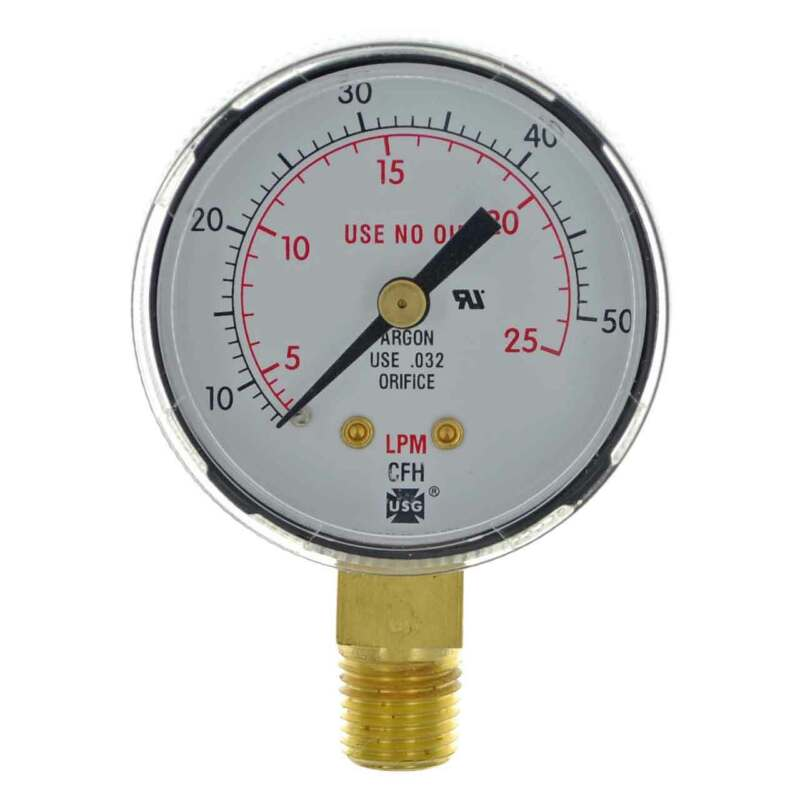 "Miller Smith GA136-03 2"" 50 CFM / 25 LPM Replacement Gauge"