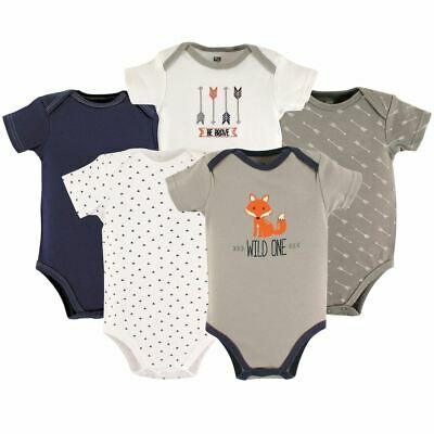 Luvable Friends Boy Bodysuits, 5-Pack, Wild One