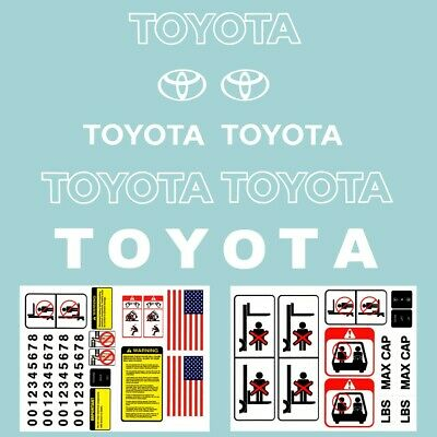Forklift Decal Complete Toyota Forklift Decal Kit With Safety Decals White