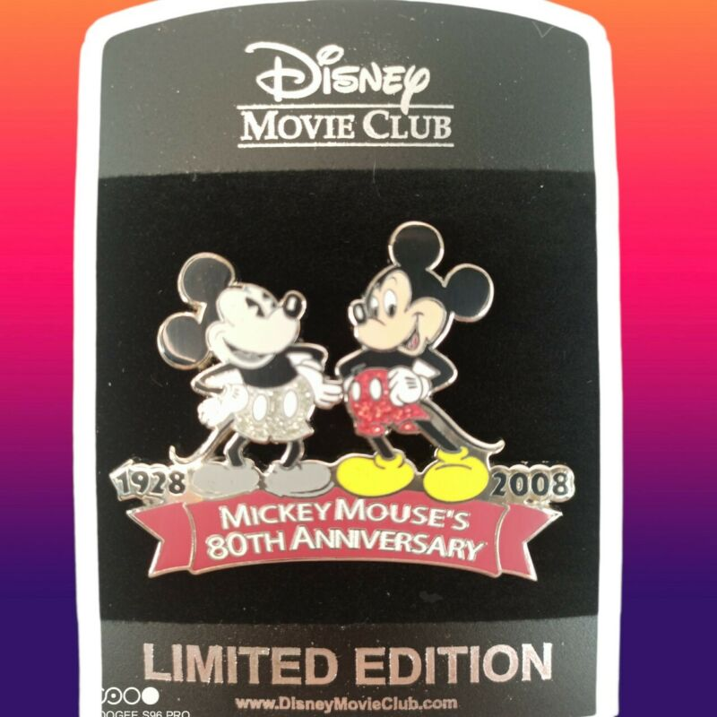 Disney Pin Mickey Mouse 80th Anniversary 2008 LIMITED EDITION LE Movie Club NEW