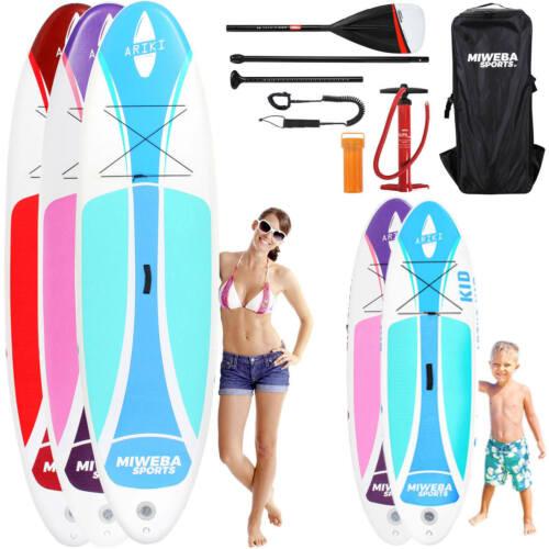 Stand Up Paddle SUP Board Surf Brett aufblasbar 230x10 325x15 Kinder inkl Paddle