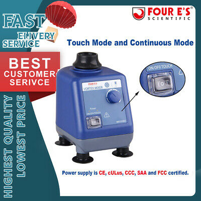 Four Es Scientific Laboratory Vortex Mixer Speed 0-3000rpm Mix 50ml Containers