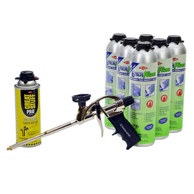 Dow Enerfoam Adhesive Pro Foam Sealant Adhesive Lot6plus Cleaner Foam Gun
