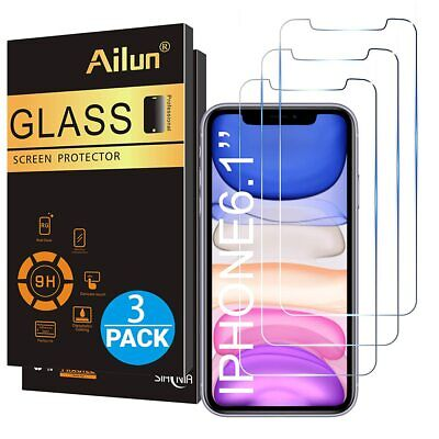 Ailun Glass Screen Protector for iPhone 11/iPhone XR 6.1 Inch 3 Pack Tempered Gl