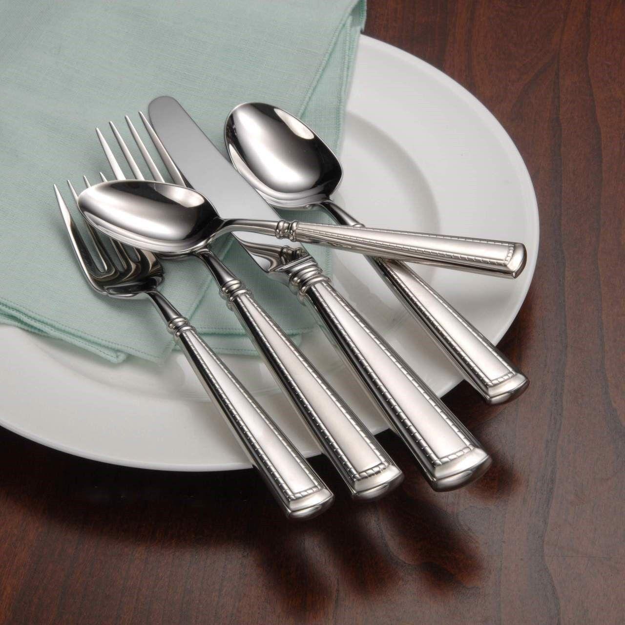 oneida couplet 66 piece service for 12 flatware set 18 10