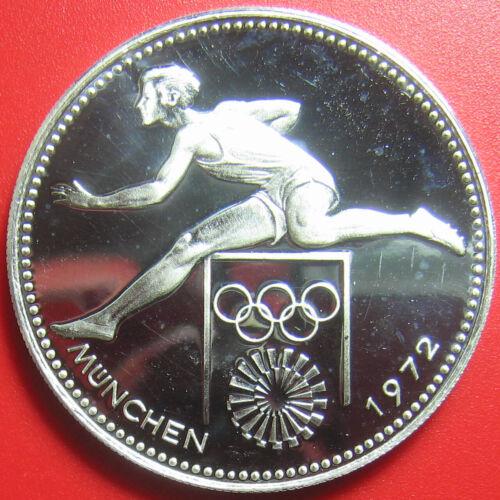 1972 PARAGUAY 150 GUARANIES SILVER PROOF HURDLER MUNICH OLYMPICS RARE SPORT COIN