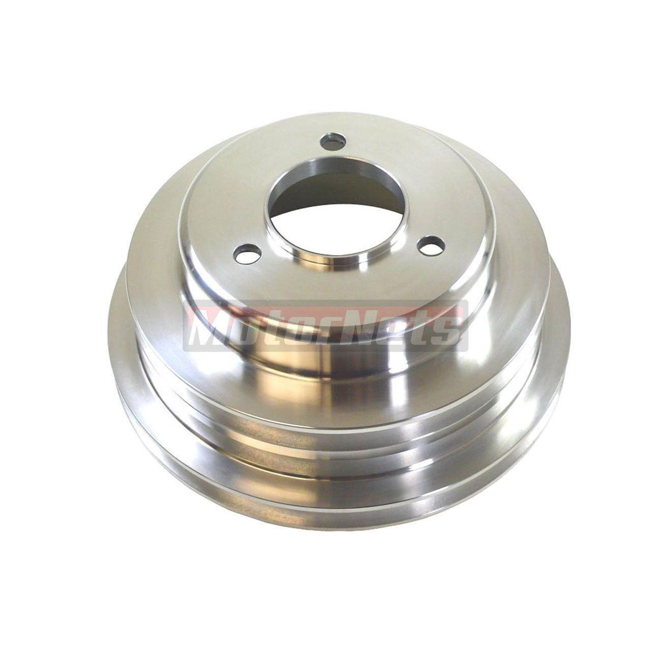 Long and Triple Groove. For Chevy Big Blook Aluminum Crank Pulley