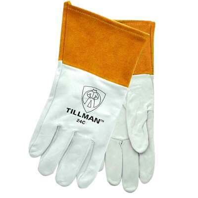 Tillman 24c Top Grain Kidskin 4 Cuff Tig Welding Gloves Medium