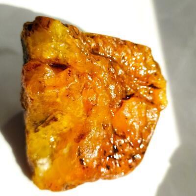 Amber Yellow White raw Baltic stones Pendant 21 gr Royal Aquarium Necklace Matt