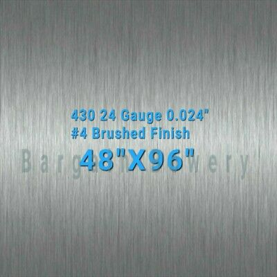430 4 X 8 Stainless Steel Sheet Wall Covering 24 Gauge 0.024