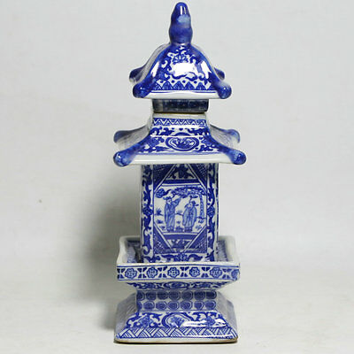 Antique Blue and white porcelain jar pagoda in ancient China