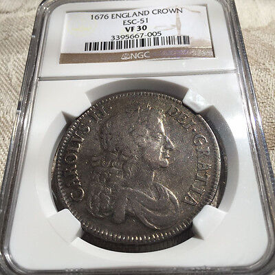 Click now to see the BUY IT NOW Price! 1676   UK SILVER CROWN   NGC VF 30   NICE COIN