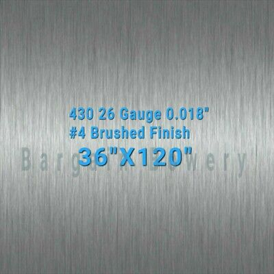 430 Stainless Steel Sheet Wall Covering 4 Brush 36 X 120 26 Gauge 0.018