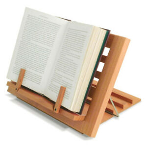 Wooden Reading Rest Holder Asjustable Book Dispaly Stand Cook Kitchen Music Note