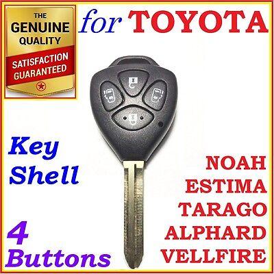 Toyota Tarago, Estima, Alphard, Vellfire, Noah, Remote Key Shell /Case 4 Buttons