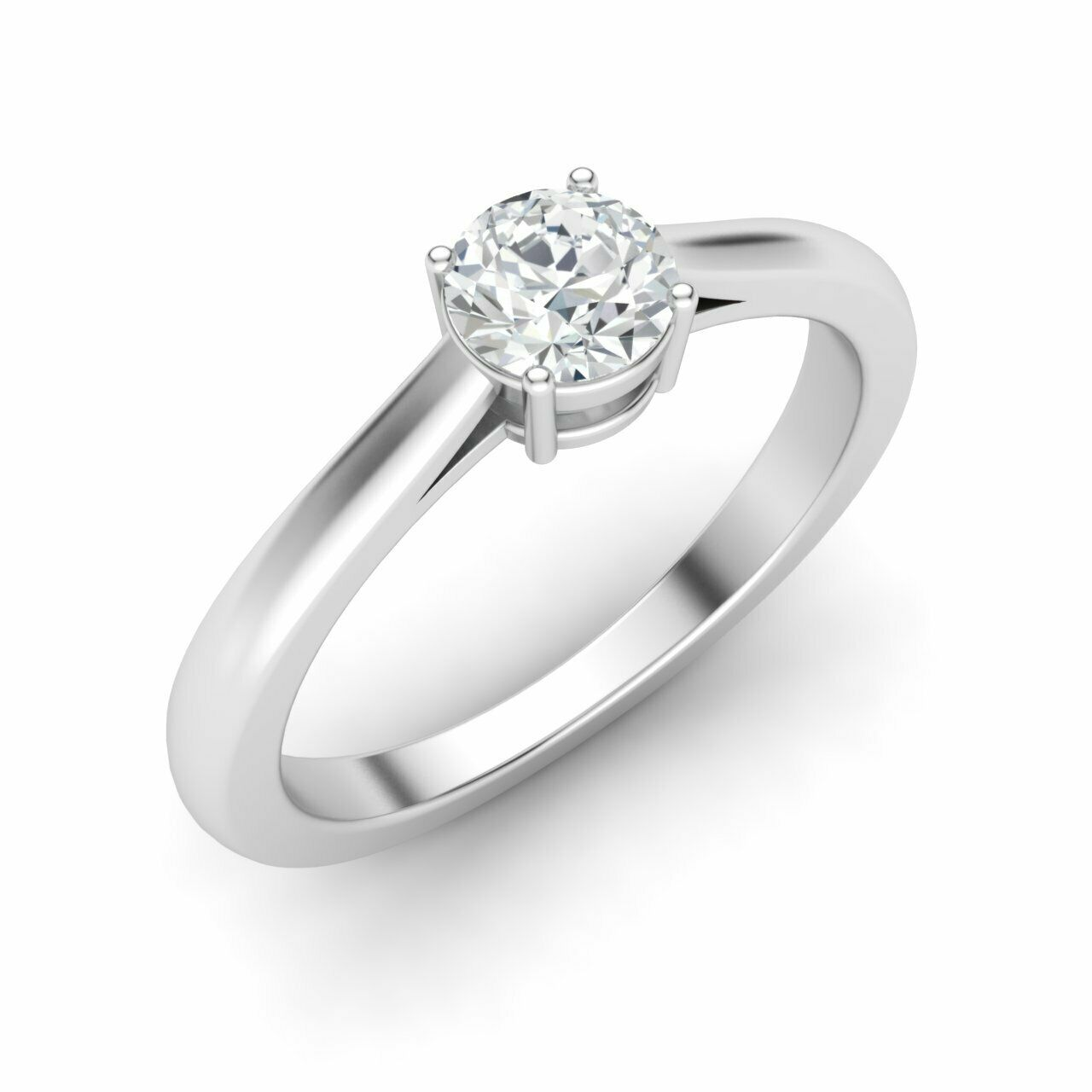 GIA Certified 14K White Gold 0.40 Ct G VS1 Natural Diamond Solitaire Ring Size 7