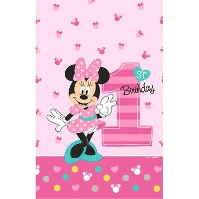 Minnie Mouse Fun to Be One Tablecover 1st Birthday Party](Minnie Mouse Table Cover)
