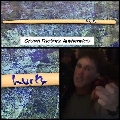 GFA Circle Jerks Drummer * LUCKY LEHRER * Signed Autograph Drumstick PROOF COA