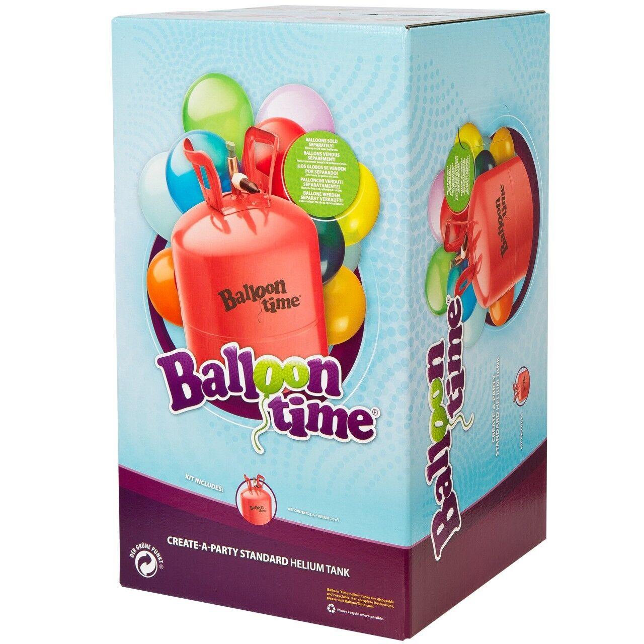 0,25m³ Heliumgas / Ballongas für ca. 30 Ballons - Einwegbehälter mit Knickventil
