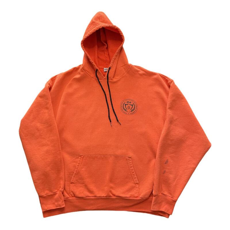 "UNITED BROTHERHOOD of CARPENTERS Orange Hoodie ""Union Made in USA"" XL"