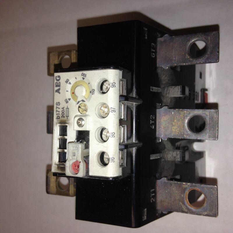 b177S AEG Overload Relay E-Nr-910-341-786-00 80-110A
