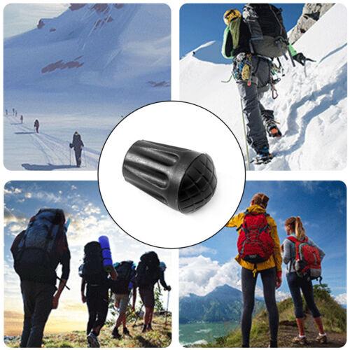 12Pcs Trekking Poles Tips Rubber Galking Stick For Hiking Tr