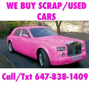 """We Pay Top Cash For Scrap/Used Cars """"FREE TOW""""$50 for Drop off"""