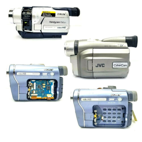 Lot of 4 Camcorders PARTS ONLY - Sony CCD-TRV118, Sony CCD-TRV328, JVC GR-DVF21