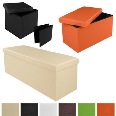 Faltbarer Sitzhocker Sitzwürfel Aufbewahrungsbox Sitzbank Hocker Truhe Sitzbox