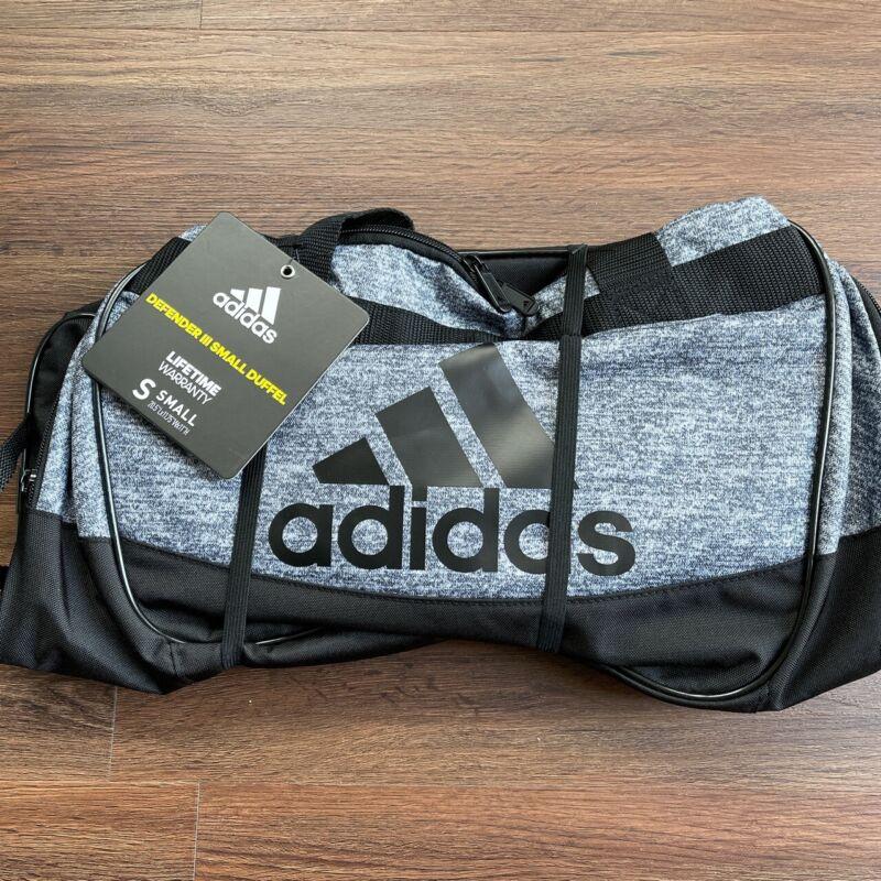 Adidas Defender III Small Duffel Bag Onix Jersey/Black Gray Gym Bag Mens/Womens