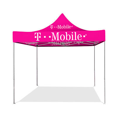 T-Mobile 10ft x 10ft Pop Up Tent with Pink Canopy (Pink Canopy Top)