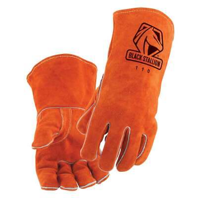 Black Stallion 110 Standard Split Cowhide Stick Welding Gloves Medium