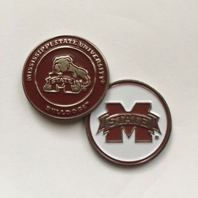 NEW NCAA Mississippi State Bulldogs Golf Ball Marker Bulldogs Golf Ball Marker
