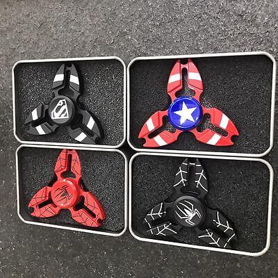 Avengers Superhero Metal Fidget Hand Spinner Finger Gyro Toys
