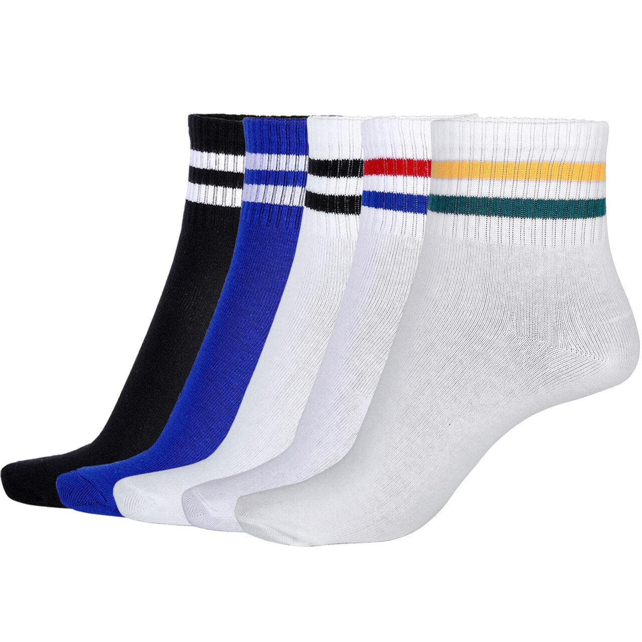 Paar Herren Damensocken Baumwollstrümpfe Bequem Sportsocken Socks Sneaker