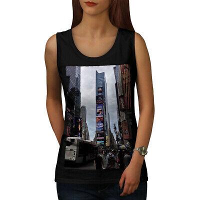 Womens Times Square (Wellcoda USA Times Square Fashion Womens Tank Top, USA Athletic Sports Shirt)