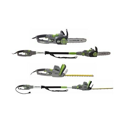Earthwise 4-in-1 Electric Chainsaw with Pole Saw, Hedge Trimmer, and Pole Hedge