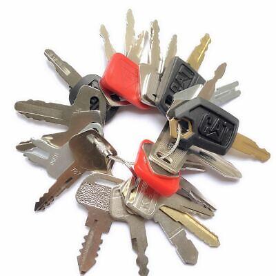 23 Keys Construction Ignition Heavy Equipment Key Set Cat Komatsu Deere Kubota