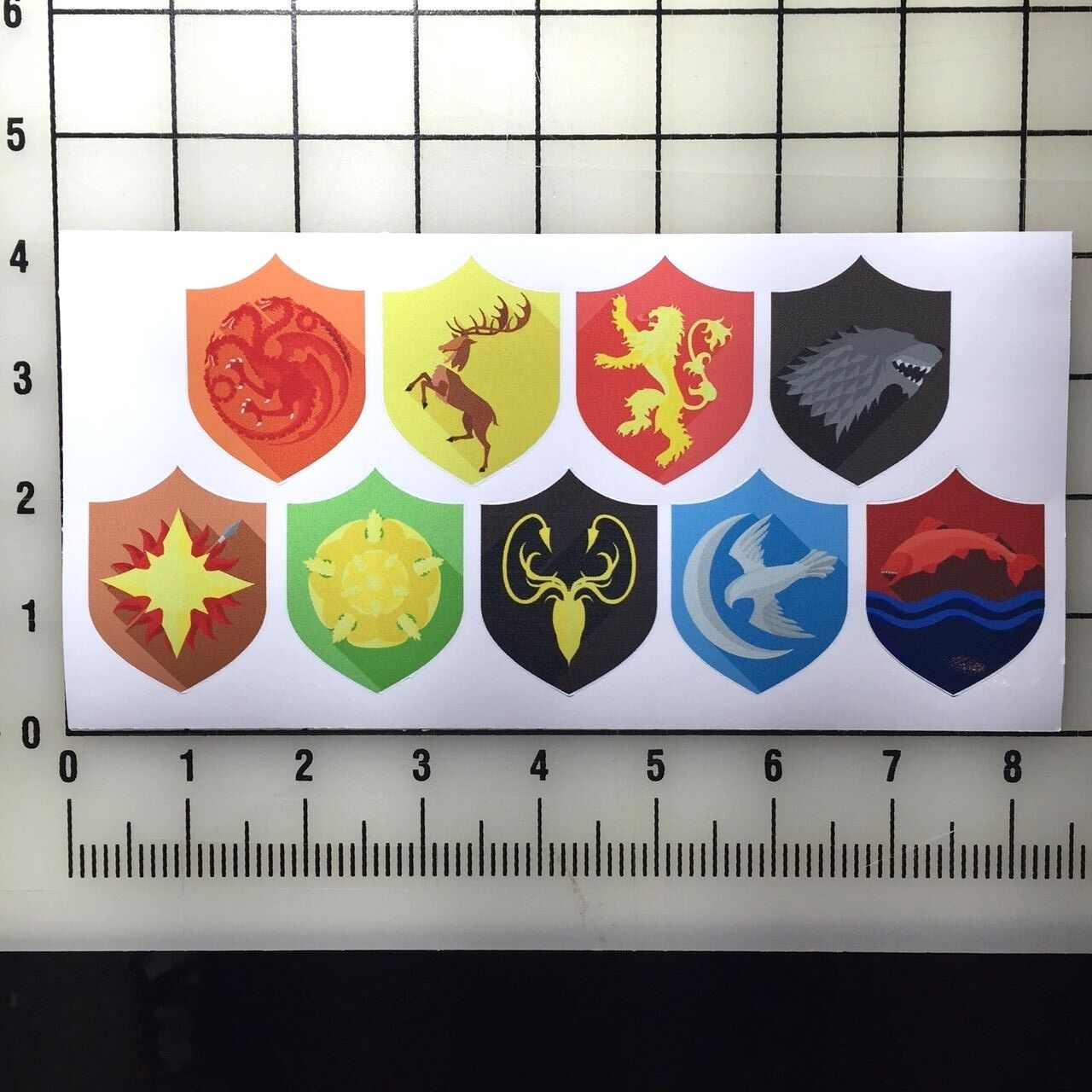 """Game of Thrones 2"""" Tall Color Vinyl Decal Sticker Set"""