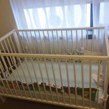 Almost new Baby cot, barely used, with mattress Chatswood Willoughby Area Preview