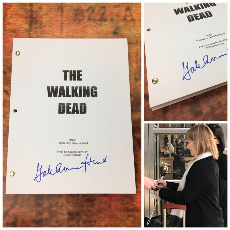 GFA The Walking Dead * GALE ANNE HURD * Signed TV Episode Script PROOF COA