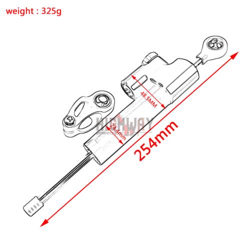 Motor CNC Adjustable Steering Damper Stabilizer for