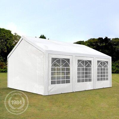 Party Planen (Pavillon Partyzelt Festzelt Gartenzelt PE Zelt 240g/m² Dachplane weiß 4x6x2m)