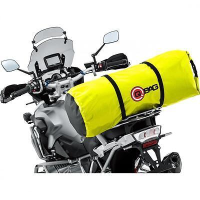 Bolsa trasera impermeable para motos enduro y motos trail color amarillo fluor